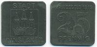 25 Pfennig 1919 Rheinprovinz Dinslaken – Zink 1919 (Funck 99.4) vorzügl... 5,00 EUR  zzgl. 1,20 EUR Versand