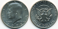 1/2 Dollar 1972 D USA Kennedy Half – Kupfer/Nickel prägefrisch  2,00 EUR  +  2,00 EUR shipping
