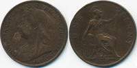 1 Penny 1901 Großbritannien - Great Britain Victoria 1837-1901 sehr sch... 3,00 EUR  +  2,00 EUR shipping