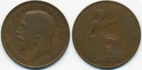 1 Penny 1915 Großbritannien - Great Britain George V. 1910-1936 schön/s... 3,00 EUR  zzgl. 1,20 EUR Versand