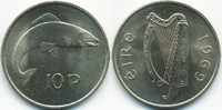 10 Pence 1969 Irland - Ireland Republik Irland seit 1949 prägefrisch  2,50 EUR  +  2,00 EUR shipping