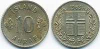 10 Aurar 1963 Island - Iceland Republik vorzüglich - minimal fleckig  0,40 EUR  +  2,00 EUR shipping