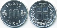 10 Aurar 1970 Island - Iceland Republik prägefrisch  0,50 EUR  +  2,00 EUR shipping