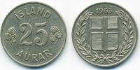 25 Aurar 1965 Island - Iceland Republik fast vorzüglich  1,00 EUR  zzgl. 1,20 EUR Versand