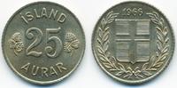 25 Aurar 1966 Island - Iceland Republik vorzüglich+  1,50 EUR  +  2,00 EUR shipping