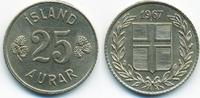 25 Aurar 1967 Island - Iceland Republik vorzüglich  1,20 EUR  zzgl. 1,20 EUR Versand