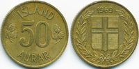 50 Aurar 1969 Island - Iceland Republik sehr schön/vorzüglich  0,40 EUR  zzgl. 1,20 EUR Versand