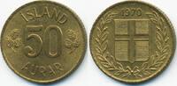 50 Aurar 1970 Island - Iceland Republik prägefrisch  0,50 EUR  +  2,00 EUR shipping