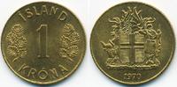 1 Krona 1970 Island - Iceland Republik prägefrisch  0,50 EUR  zzgl. 1,20 EUR Versand