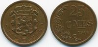 25 Centimes 1946 Luxemburg - Luxembourg Charlotte 1919-1964 vorzüglich  2,00 EUR  zzgl. 1,20 EUR Versand