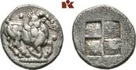 AR-Trihemiobol, 510/480 v. Chr.; MACEDONIA AIGAI. Sehr schön  245,00 EUR  + 9,90 EUR frais d'envoi