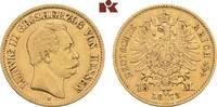 10 Mark 1873. Hessen Ludwig III., 1848-1877. Sehr schön-vorzüglich  425,00 EUR