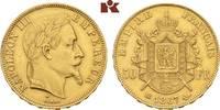 50 Francs 1867 BB, Straßburg. FRANKREICH Napoléon III, 1852-1870. Min. ... 645,00 EUR
