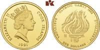 250 Dollars 1991. COOK ISLANDS Elizabeth II. seit 1952. Polierte Platte  325,00 EUR  + 9,90 EUR frais d'envoi