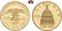5 Dollars 1989 W, West Point. VEREINIGTE STAATEN VON AMERIKA / USA Föde... 348.95 US$ 305,00 EUR  +  17.05 US$ shipping