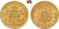 20 Mark 1878. Hamburg Freie und Hansestadt. Vorzüglich  395,00 EUR  + 9,90 EUR frais d'envoi