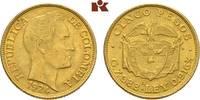 5 Pesos 1924. KOLUMBIEN Republik ab 1886. Fast vorzüglich  325,00 EUR  + 9,90 EUR frais d'envoi