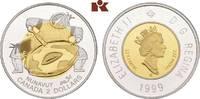 2 Dollars 1999. KANADA Elizabeth II seit 1952. Polierte Platte  275,00 EUR  + 9,90 EUR frais d'envoi