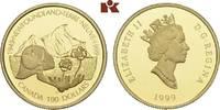 100 Dollars 1999. KANADA Elizabeth II seit 1952. Polierte Platte  315,00 EUR  + 9,90 EUR frais d'envoi