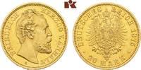 20 Mark 1875. Anhalt Friedrich I., 1871-1904. Vorzüglich-Stempelglanz  6645,00 EUR envoi gratuit