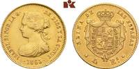 4 Escudos 1865, Madrid. SPANIEN Isabella II., 1833-1868. Min. Randfehle... 307.79 US$ 275,00 EUR  +  16.68 US$ shipping