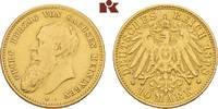 10 Mark 1898. Sachsen-Meiningen Georg II., 1866-1914. Sehr schön  3745,00 EUR envoi gratuit