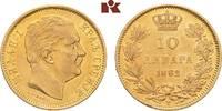 10 Dinara 1882 V, Wien. SERBIEN Milan IV. Obrenowitsch, 1868-1882-1889.... 235,00 EUR  + 9,90 EUR frais d'envoi