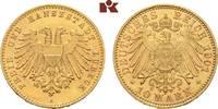 10 Mark 1901. Lübeck Freie und Hansestadt. Vorzüglich-Stempelglanz  2695,00 EUR envoi gratuit