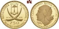 750 Pesetas 1970. ÄQUATORIAL GUINEA Republik seit 1968. Polierte Platte  425,00 EUR  + 9,90 EUR frais d'envoi