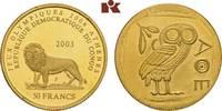 50 Francs 2003. KONGO Republik Kongo (Zaire), 1960-1971. Prachtexemplar... 345,00 EUR  + 9,90 EUR frais d'envoi