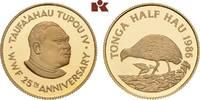 1/2 Hau 1986. TONGA Tupou IV, 1965-2006. Polierte Platte  425,00 EUR  + 9,90 EUR frais d'envoi