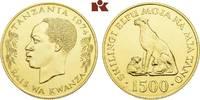 1.500 Shilingi 1974. TANSANIA Republik. Stempelglanz  1425,00 EUR  + 9,90 EUR frais d'envoi