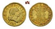 1/2 Escudo 1761 M-PJ, Madrid. SPANIEN Carlos III., 1759-1788. Vorzüglic... 275,00 EUR  zzgl. 5,90 EUR Versand