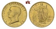 100 Lire 1932/X R, Rom. ITALIEN Victor Emanuel III., 1900-1946. Fast St... 925,00 EUR  + 9,90 EUR frais d'envoi