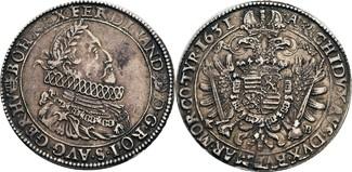 Taler, Kremnitz 1631 Habsburg Ferdinand II...