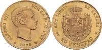 10 Pesetas, Madrid 1878/1962 Spanien Alfonso XII. (1874-1885) vz +, min... 165,00 EUR  zzgl. 5,90 EUR Versand