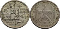 3 Reichsmark, Berlin 1927 Weimarer Republik  vz+, winz. Randfehler u. K... 125,00 EUR  zzgl. 5,90 EUR Versand