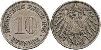 10 Pfennig, Karlsruhe 1915 Kaiserreich  ss, winz. Kratzer, min. berieben  60,00 EUR  zzgl. 5,90 EUR Versand