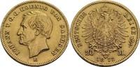Sachsen 20 Mark, Dresden Johann, 1854-1873