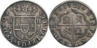 2 Reales, Sevilla 1721 Spanienb, Philippe V. (1700-1746)  ss  70,00 EUR  zzgl. 5,90 EUR Versand