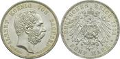 5 Mark 1902 E Kaiserreich Sachsen König Al...