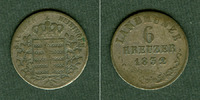 Sachsen-Meiningen  Sachsen Meiningen 6 Kreuzer 1832 L  f.ss