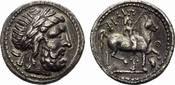 AR-Tetradrachme 3.-2.  Jhdt. v. Chr. PANNO...