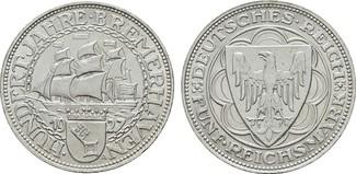 5 Reichsmark 1927, A. WEIMARER REPUBLIK  S...