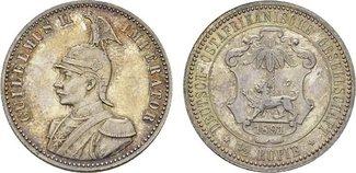 1/2 Rupie 1891, Berlin. DEUTSCHE KOLONIEN ...