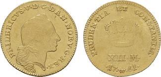 12 Mark 1761, W-Kopenhagen. DÄNEMARK Frede...