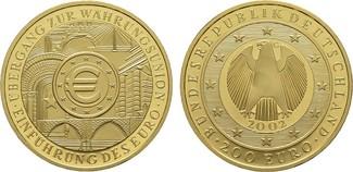 200 Euro 2002 G BRD  Stempelglanz.