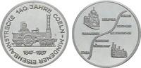 Nickelmedaille 1987. KÖLN  Fast Stempelglanz  11.18 US$  +  7.83 US$ shipping