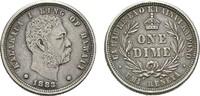 Umi Keneta (one dime) 1883. HAWAII Kalakaua, 1874-1891. Leichte Patina.... 170,00 EUR  +  7,00 EUR shipping