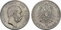 2 Mark 1876, E. Sachsen Albert, 1873-1902. Fast Stempelglanz  1480,00 EUR